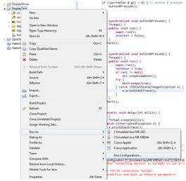 create run configuration