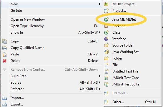New Java ME MIDlet