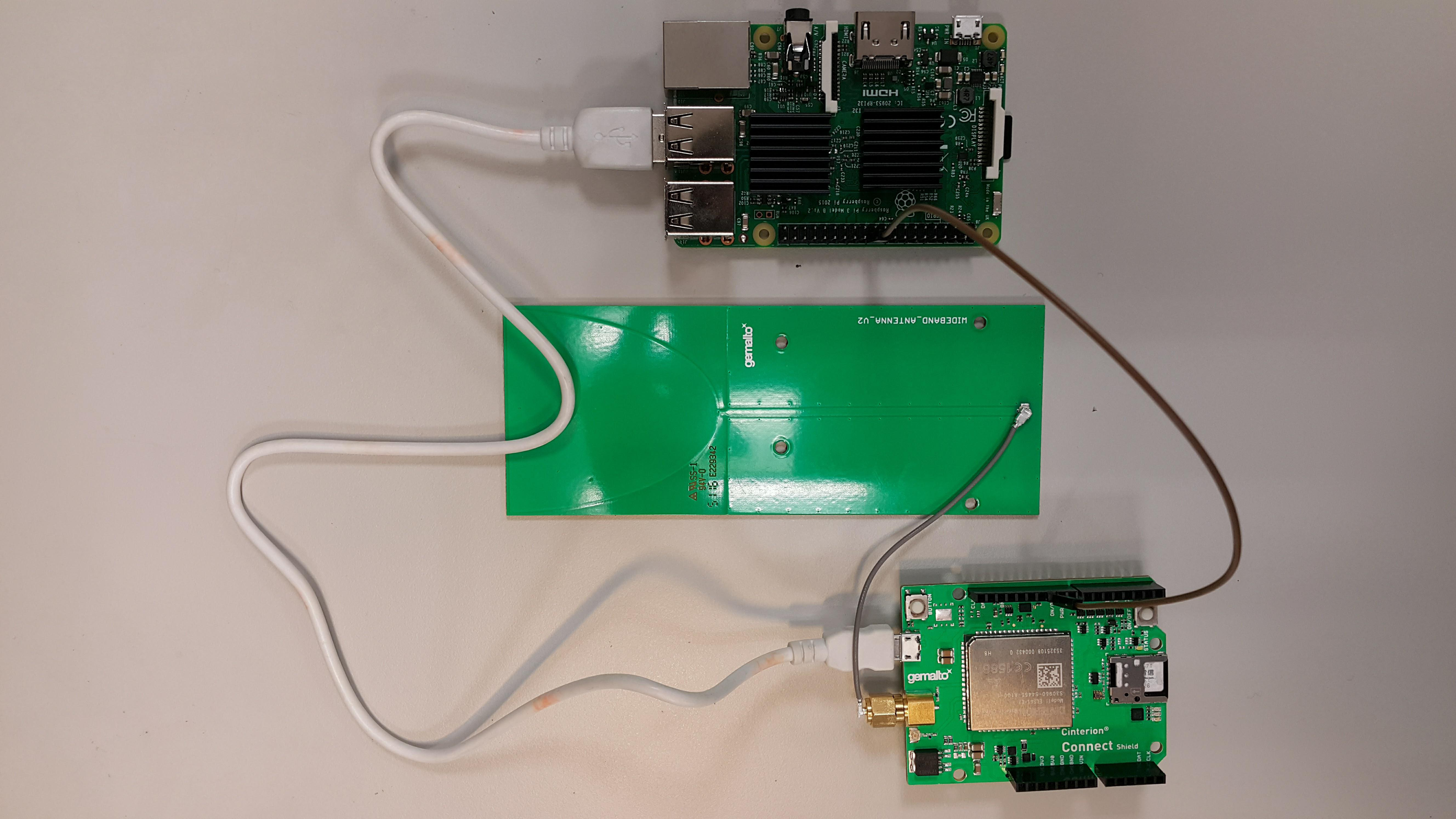 RPi with Connect Shield