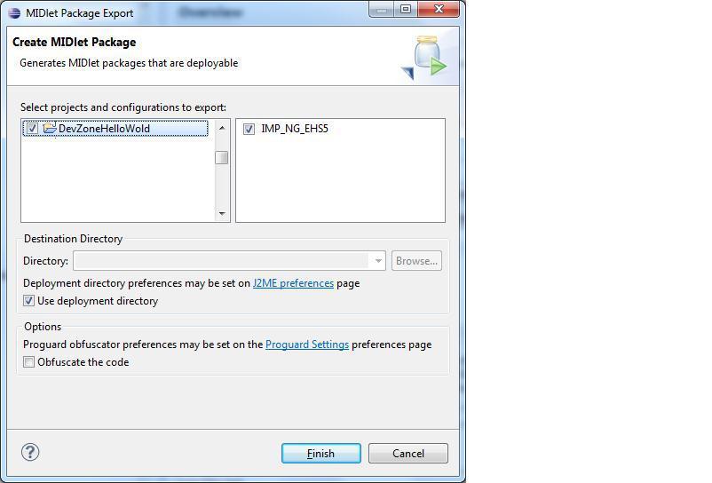 Create MIDlet package