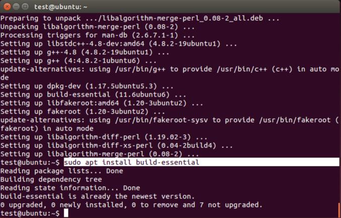 apt install build-essential
