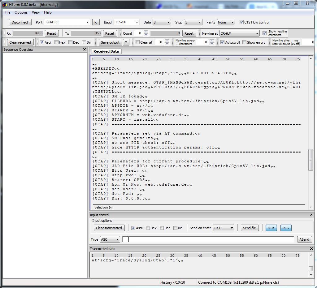 output debug