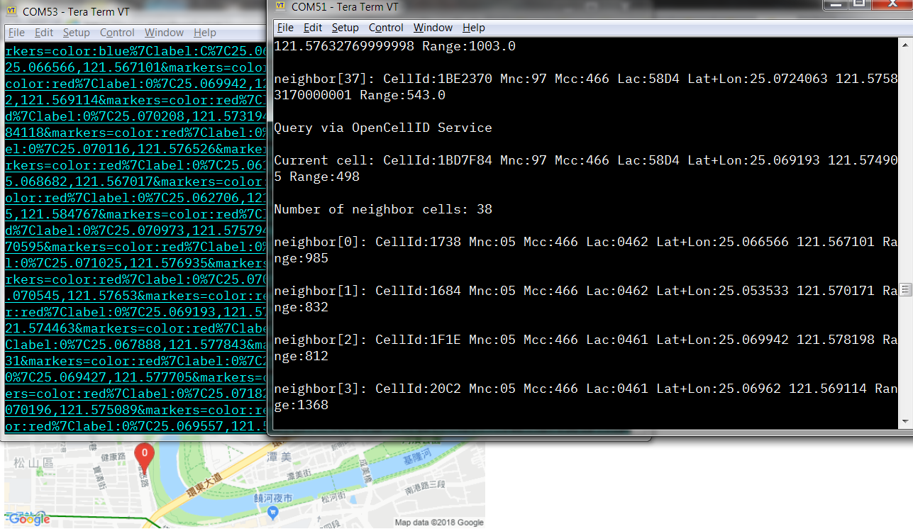 TeraTerm Screenshot while Running Demo