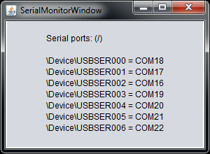 Serial Ports with EHS6 concept board