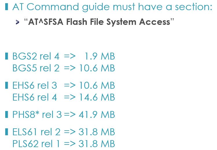 Modules with FFS