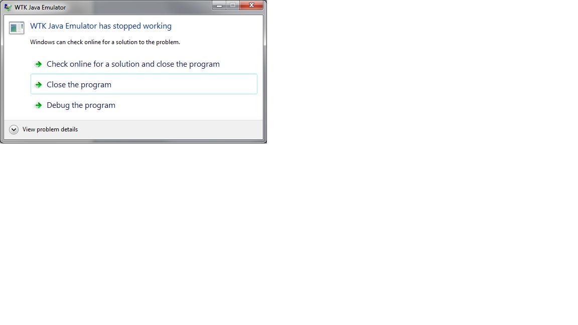 WTK Java Emulator